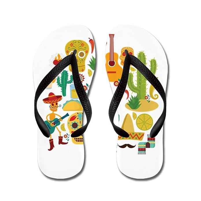 Jazzy Math Symbols - Flip Flops Funny Thong Sandals Beach Sandals