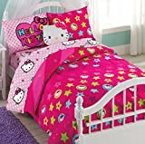 Hello Kitty 6 Piece Twin Bedding Set (Reversible Comforter)