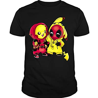 Amazon.com: Deadpool Cosplay Pikachu T Shirt Pikachu Pool ...