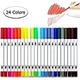 Brush fineliner pens, Beupro Bullet Journal Watercolour Brush Art Markers Pens Colouring Pens Fineliner Water Color Drawing Pens-24pcs