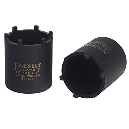 powerbuilt 648475 spindle nut socket, six outer