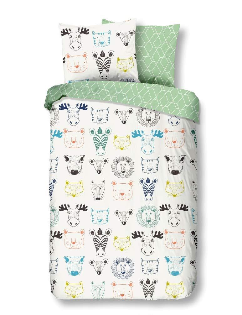 Tiere 120x150 cm 100/% Baumwolle Bettw/äsche-Set f/ür Baby//Kinder