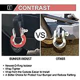 BUNKER INDUST Newest D Ring/Shackle Isolator Kit,1