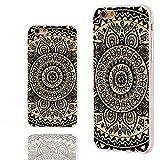 iPhone 6 Case, iphone 6 4.7 case,iphone6 case ,ChiChiC full Protective unique Stylish Case slim flexible durable Soft TPU Cases Cover for iPhone 6 4.7 inch,geometric black mandala yellow wood grain
