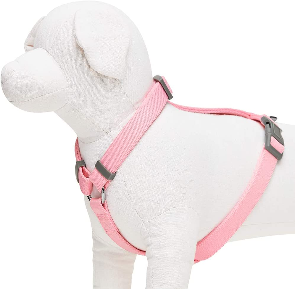 Essential Classic Solid Color Everyday Dog Harness Large Red Adjustable Harnesses for Dogs UMI
