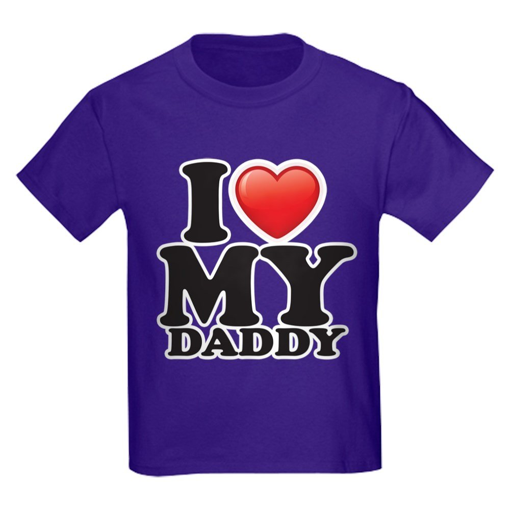 ca3bc56c4 Amazon.com: Royal Lion Kids Dark T-Shirt I Love My Daddy Dad Father Heart:  Clothing