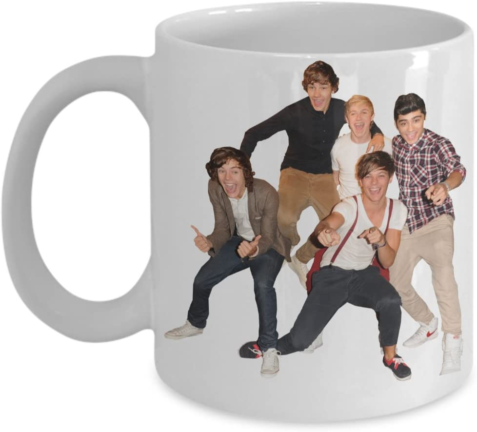 Exclusive One Direction 1D Coffee Mug - One Direction Christmas Gifts - Features a Stunning Image of Niall Horan, Zayn Malik, Liam Payne, Harry Style