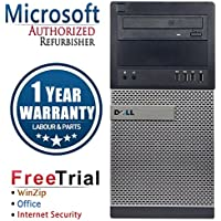 Dell 3010 Business High Performance Tower Desktop Computer PC (Intel Core i5 3450 3.1G,16G RAM DDR3,3TB HDD,DVDRW,Windows 10 Professional)(Certified Refurbished)