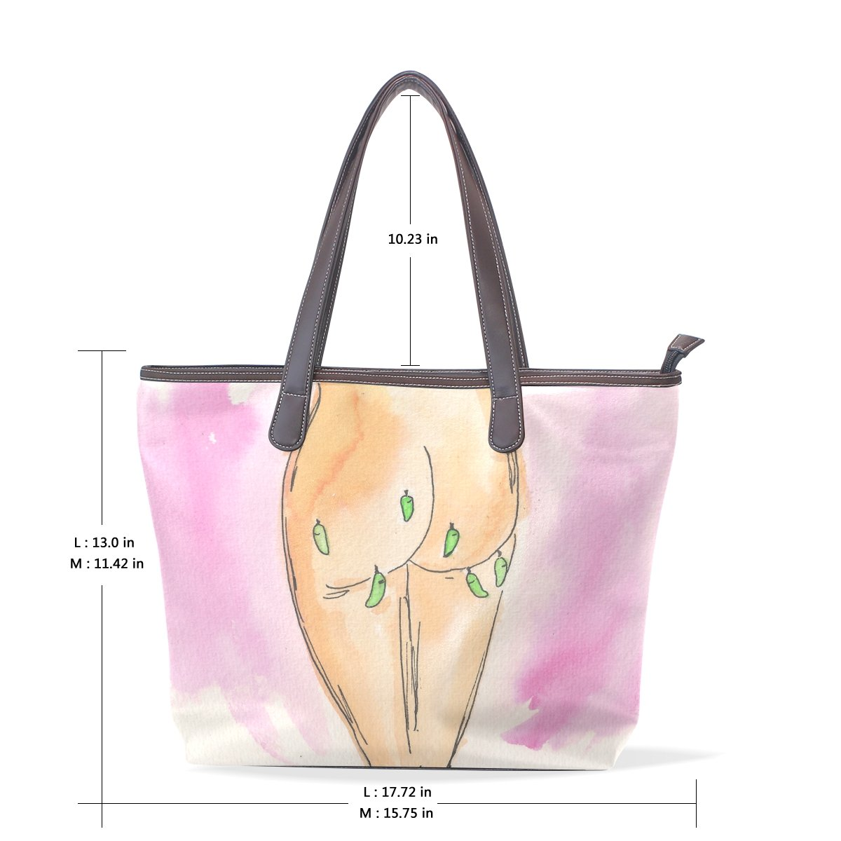 Mr.Weng Household Chrysalis Bum Lady Handbag Tote Bag Zipper Shoulder Bag