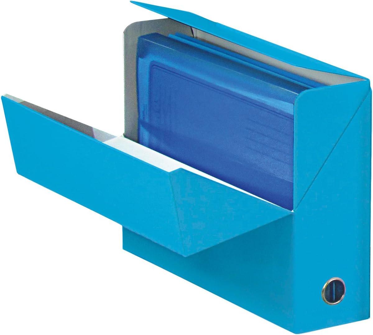 Elba color life – Caja de transferencia tarjeta Plastificado, ancho 9 cm 34 x 25,5 cm), color azul turquesa: Amazon.es: Oficina y papelería