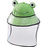 PRETYZOOM Protector Facial para Niños Hat Frog Anti Spitting Face Hat Protectores Faciales de Seguridad a Prueba de Polvo Gorro de Pescador para Niños con Tapa (Verde)