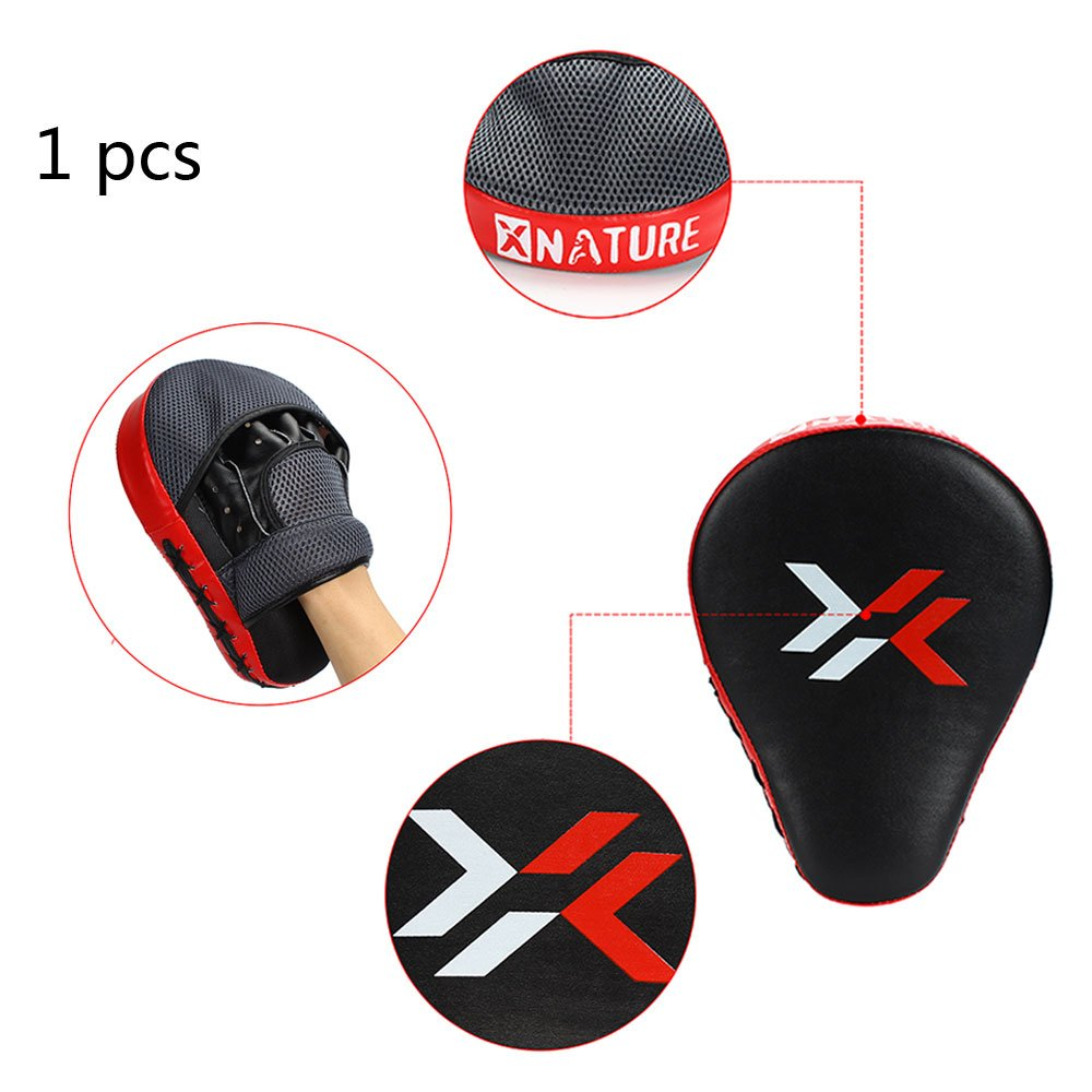 Xnature Essential Curved Boxing MMA Punching Mitts Boxing Pads Hook & Jab Pads MMA Target Focus Punching Mitts
