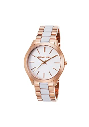 3ccd94d20b69e Amazon.com: Michael Kors Women's Slim Runway 42mm Two Tone Steel ...