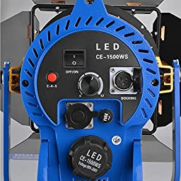 Emgreat Bi-color CE-1500WS Photography Photo Studio Lighting Kit, Photo Video Fresnel Light Barn Door Led Spotlight with Wireless Remote Controller