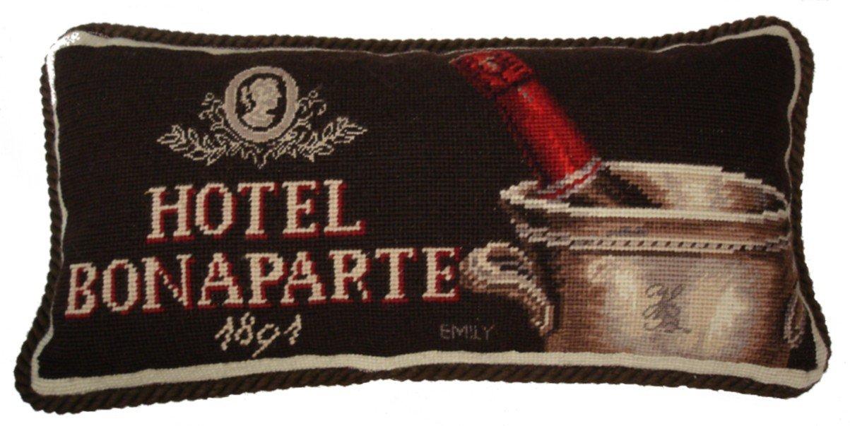 Deluxe Pillows Hotel Bonaparte - 9 x 19 in. needlepoint pillow