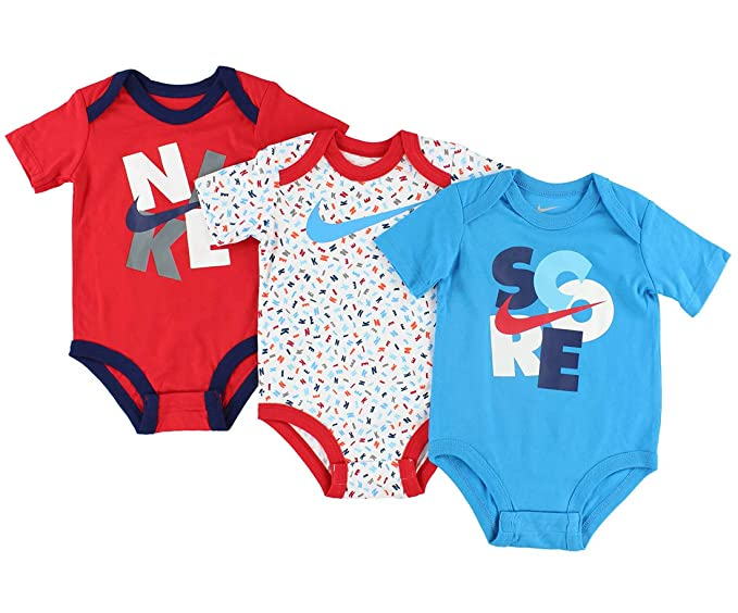 Nike Swoosh Three-Piece Infant Baby Bodysuit Set Clothing