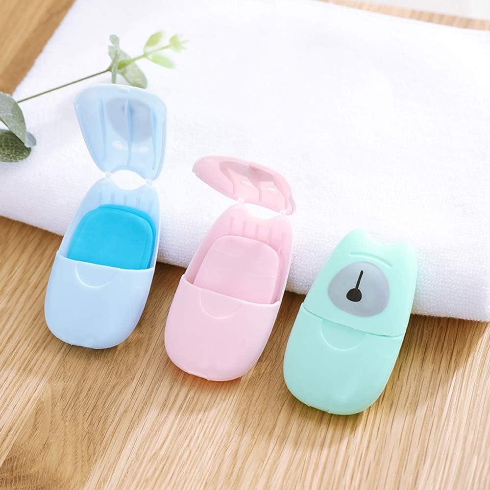 mini sapone di carta profumato lavaggio delle mani 50 pezzi di carta saponata lavaggio a mano Fesjoy Fiocchi di sapone usa e getta portatili