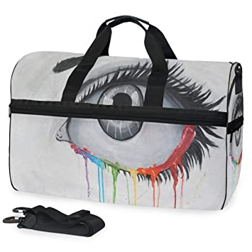 Christmas Unicorn Sports Gym Bag with Shoes Compartment Travel Duffel Bag for Men and Women