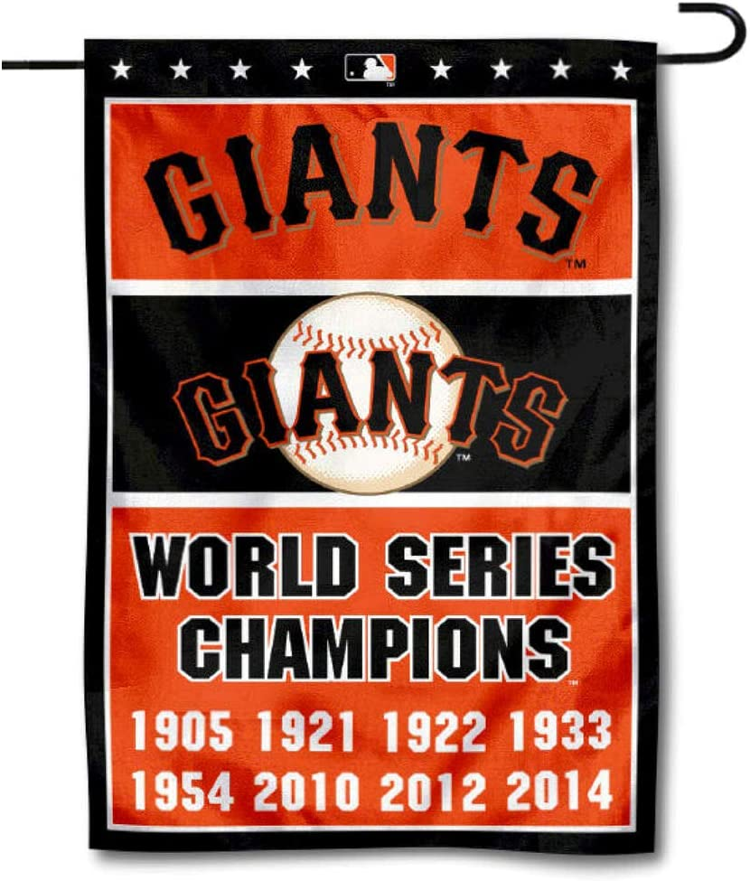 WinCraft San Francisco Giants 8-Time World Series Champions Double Sided Garden Flag