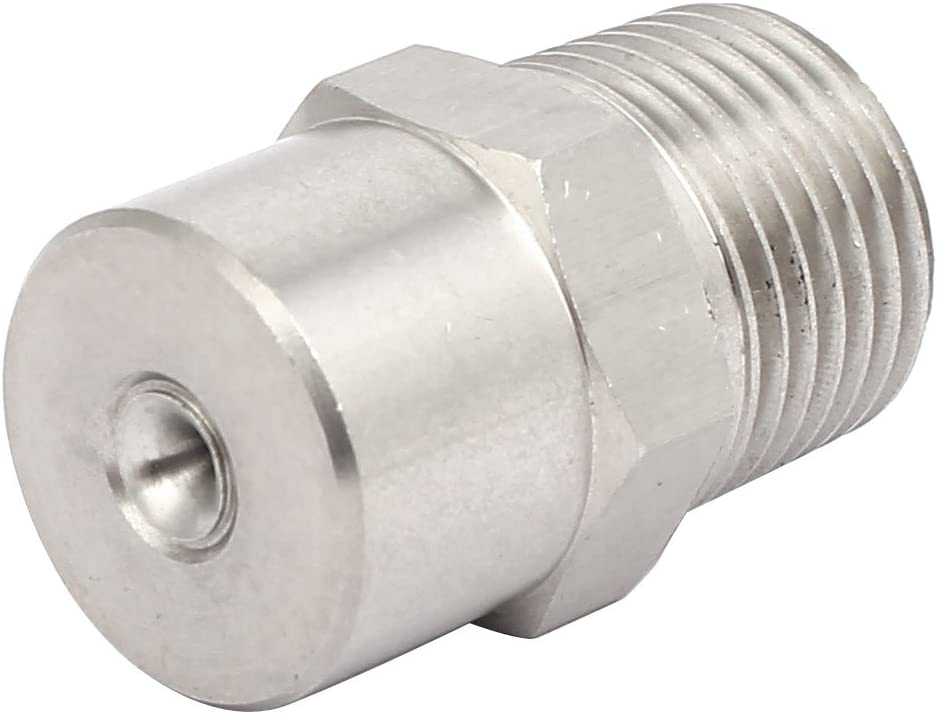 uxcell 1//2BSP 304 Stainless Steel Wide Angle Axial Whirl Full Cone Spray Tip