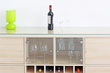 auflageplatte / glasplatte / regalplatte für ikea kallax regal ... - Glasplatte Küche Ikea