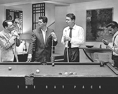 The Rat Pack Shooting Pool (Frank Sinatra, Dean Martin, Peter Lawford, Sammy Davis JR.) Classic Hollywood Celebrity Icons Poster Print 16x20 (16x20 Print)