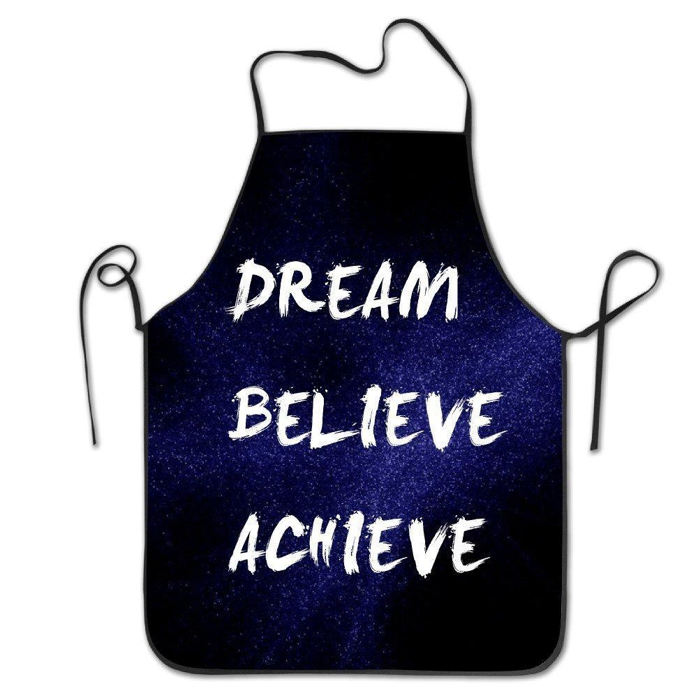 ユニセックスDream Believe Achieveキッチンエプロン   B07DN5LGSB
