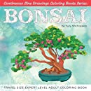 Bonsai: Travel Size Expert Level Adult Coloring Book (Continuous Line Drawings Coloring Books Series) (Volume 2)