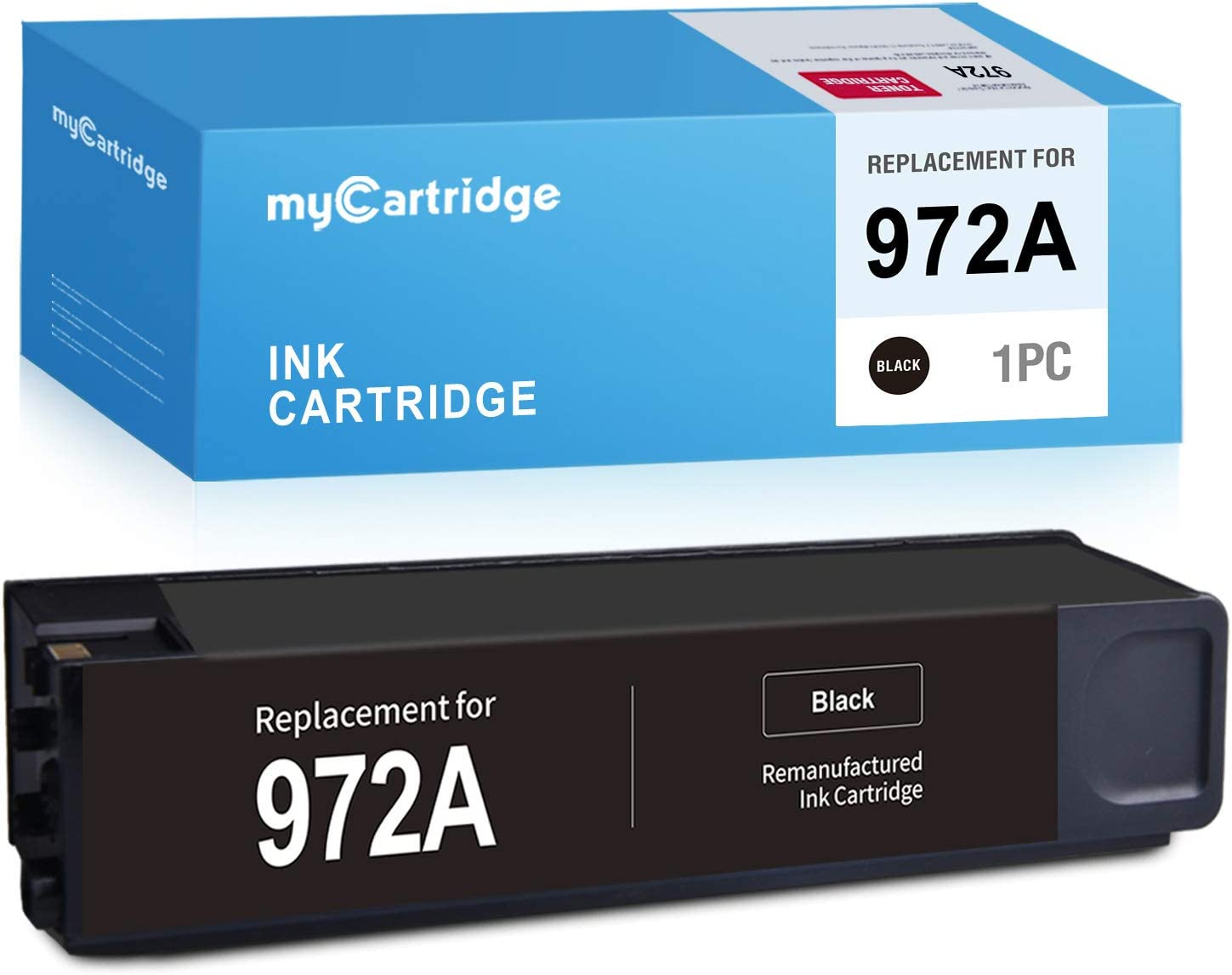 MYCARTRIDGE Remanufactured Ink Cartridge Replacement for HP 972 972A Black use with PageWide Pro 477dw 577dw 377dw 477dn 452dn 452dw 552dw (1-Pack)