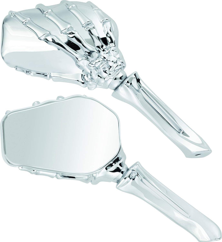 Par de espejos retrovisores homologados universales Skeleton para moto Street de metal con rosca de 10 mm AMAS The Best Custom Naked
