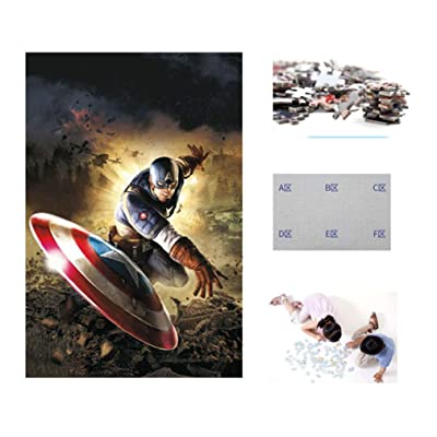 YE ZI Jigsaw Puzzles- Captain America 500 Pieces of Puzzles, Wooden, Adult Decompression Toys, Children's Educational Toys Big Gift for Boys and Girls (Color : G ): Toys & Games