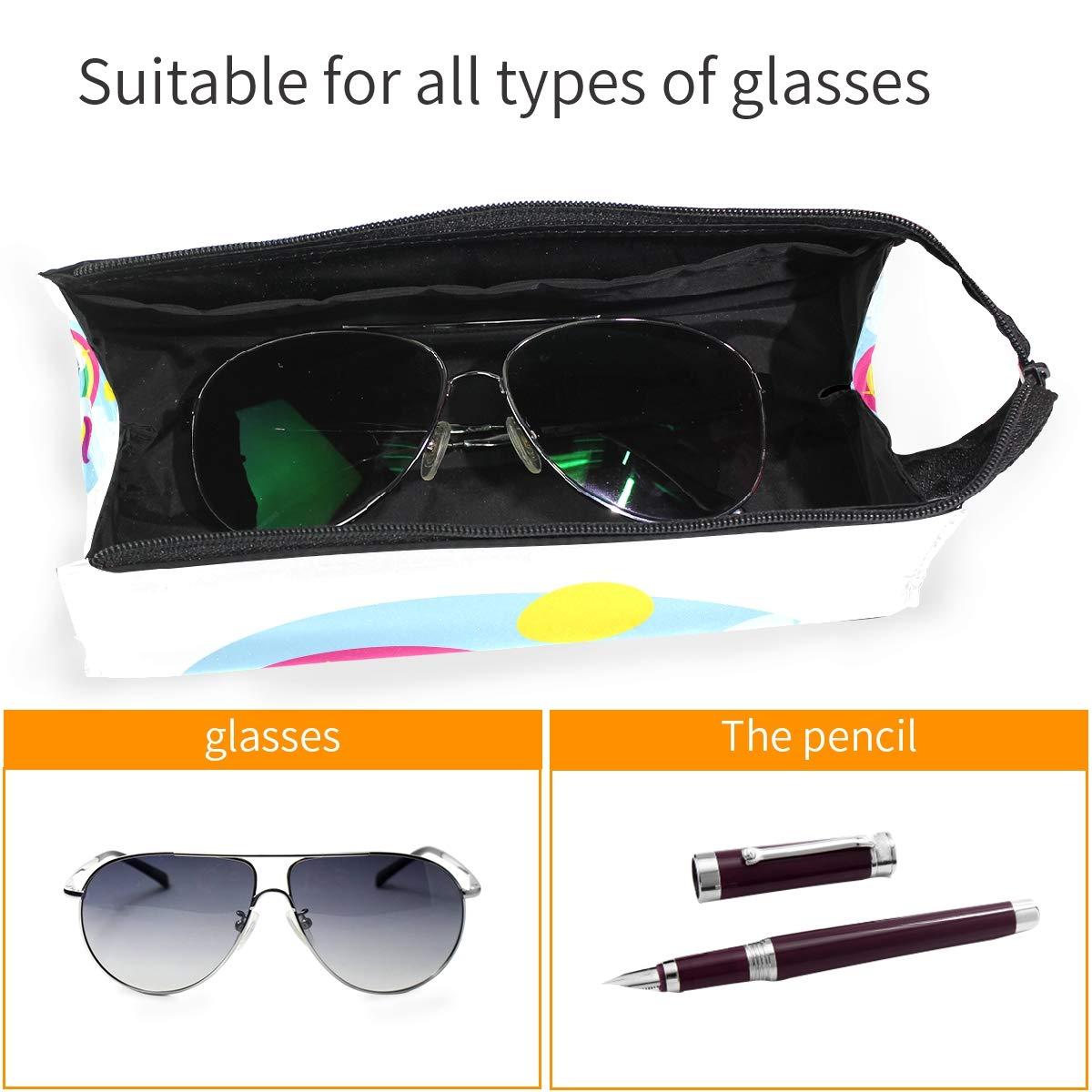 Sheep Unicorn Glasses Case Women Men Eyeglasses Bag Pencil Case Pouch