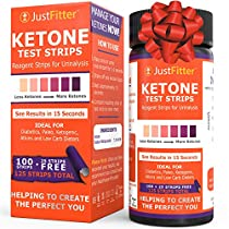 Just Fitter Ketone Test Strips. Lose Weight, Look & Feel Fabulous on a Low Carb Ketogenic or HCG Diet. Get Your Body Back! Accurately Measure Your Fat Burning Ketosis Levels in 15 Seconds. 125Strips.