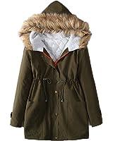 Simple Flavor コート 秋服 冬服 暖かい 防寒着 ミリタリーコート 軽い 女性用 綿入れの外套 大ヤードの女装