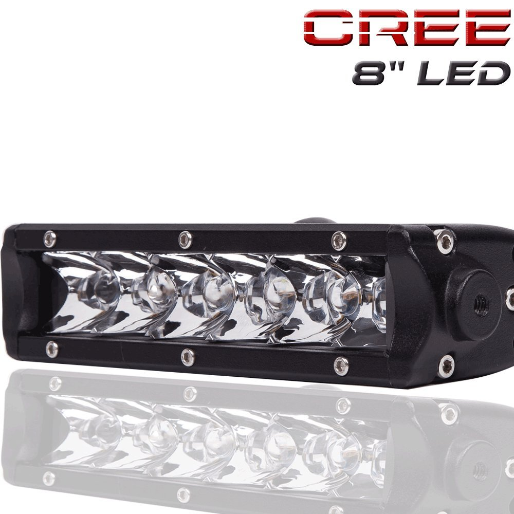 Auto lighting accessories turbo sii 30w mini series 8 inch led light bar single row cree work light spot beam 2700lm 400m visibility off road led lights driving lights for jeep mozeypictures Images