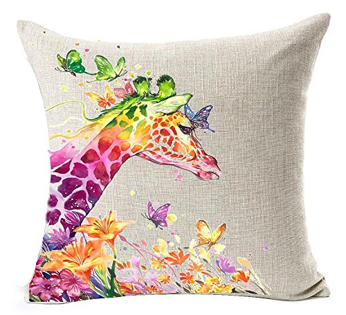 Painting colored butterfies Decorative Pillowcase product image