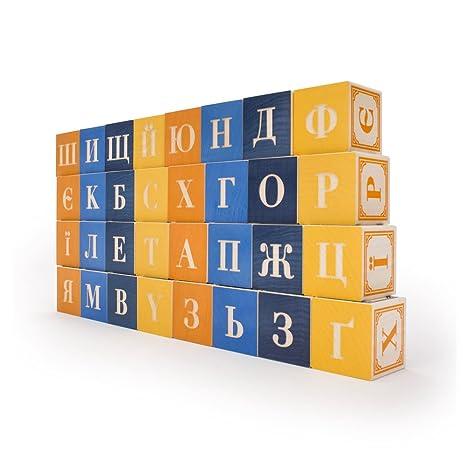 Amazon Com Uncle Goose Ukrainian Blocks Made In Usa Toys Games