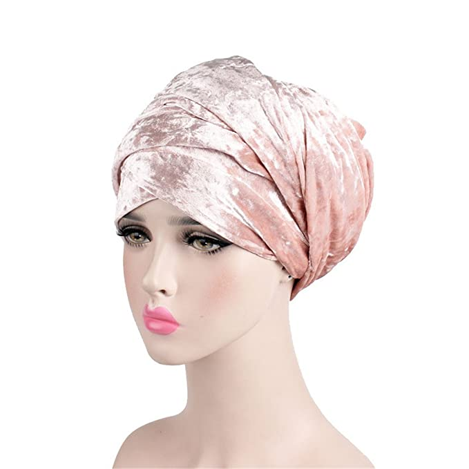 Qhome Luxury Laser Velvet Turban Hijab Extra Long Tube Head Wrap Headscarf Nigerian Turban Women Turbante