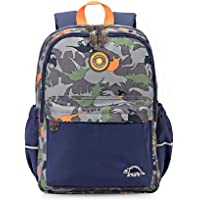 RuRu Monkey Dinosaur Kids Toddler Backpack, Perfect for Preshcool, Elementary School Bag for Boys Girls
