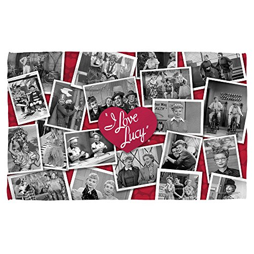 Towel I Love Lucy (I Love Lucy Time After Time Beach Towel White BEACH 36x58)