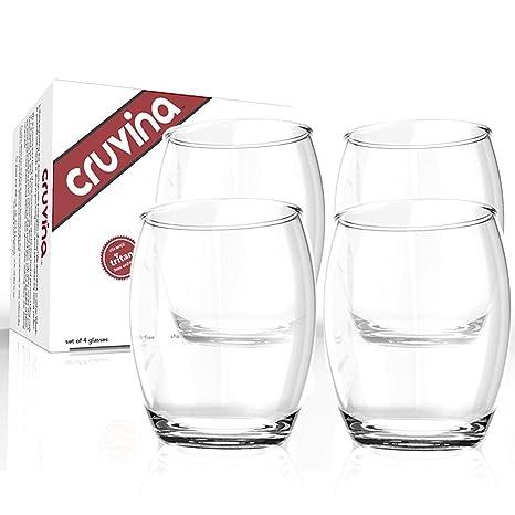 Beautiful Cruvina Unbreakable Wine Glasses   Shatterproof Stemless Tritan Plastic  Cups   Ideal For Indoor And Outdoor