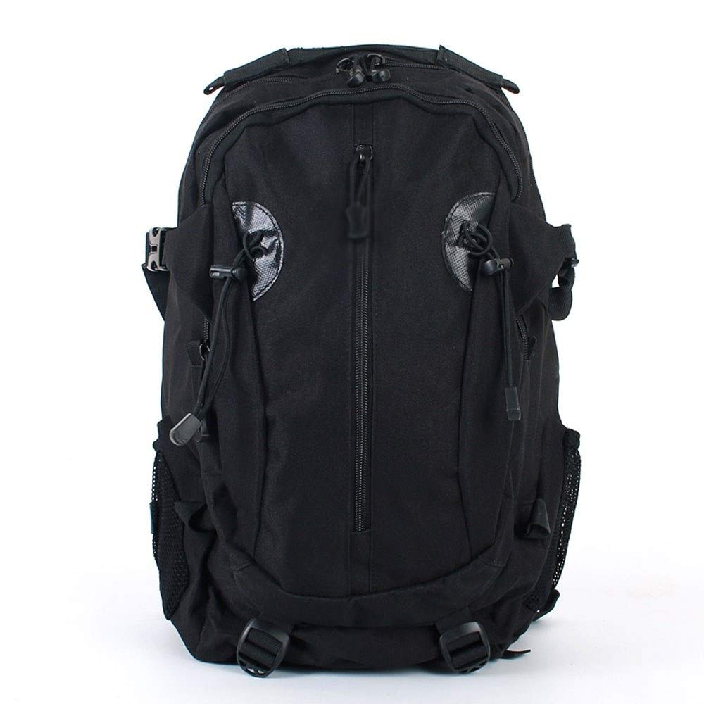 MYXMY Outdoor Camouflage Backpack Sports Backpack Waterproof Camping Mountaineering Bag Large Capacity Travel Bag Travel Backpack 45L (Color : Black)