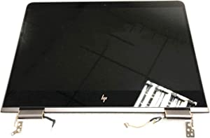 "Screen Expert 13.3"" UHD 3840x2160 LCD Panel Replacement LED Touch Screen Display with Bezel Frame and Ash Silver Cover Complete Assembly for HP Spectre X360 13T-AC000 13-AC033DX P/N: 918033-001"