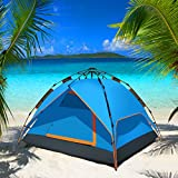 Backpacking Tent - WolfWise 3 Person Instant Family Tent Pop Up Sun Shelter Shade for Camping Hiking Climbing Fishing
