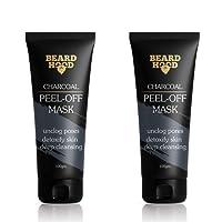 Beardhood Charcoal Peel Off Mask, Set of 2, 200g