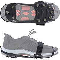 LHIABNN Silicone Non-Slip Shoe Cover Ice Snow Grips,Spikes Anti Slip Mountaineering Slip-on Stretch Footwear,Traction Cleats for Walking Jogging Hiking on Snow and Ice