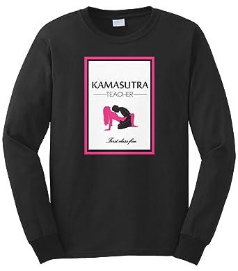eaeb3a9dc Cybertela Men's Kamasutra Teacher First Class Free Long Sleeve T-Shirt  (Black, Small