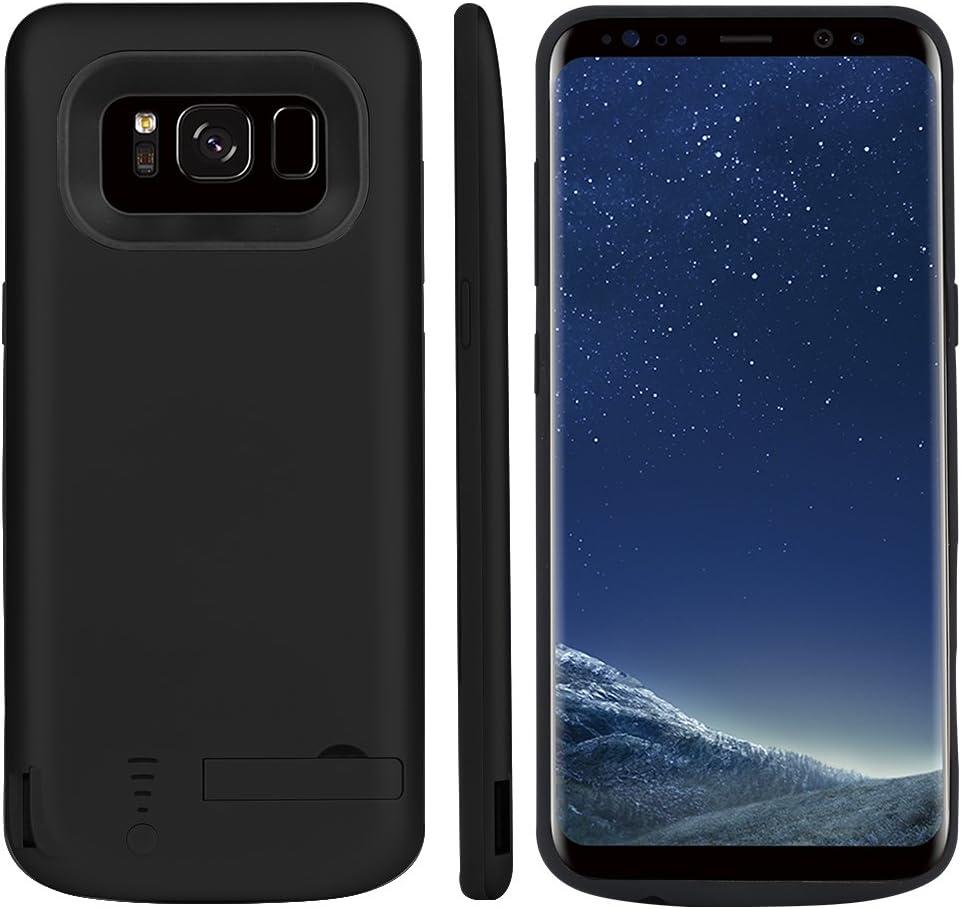 Funda Batería Galaxy S8 Plus, BasicStock 6500mAh Batería Externa Recargable Ultra Delgada Protector portátil Carga Caso de Prueba de Choque para Samsung Galaxy S8 Plus (Negro): Amazon.es: Electrónica