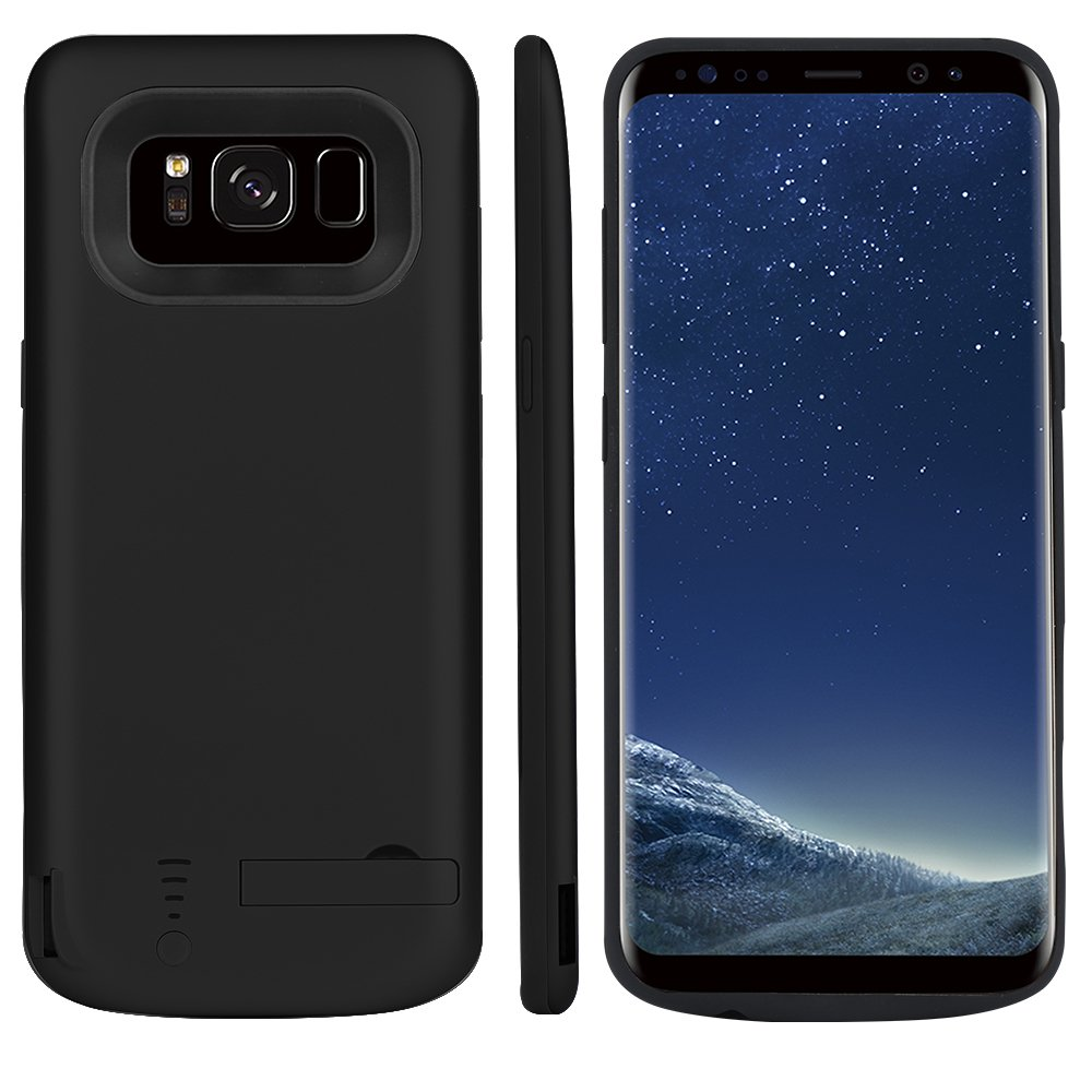 Promama Samsung Galaxy S8 Plus 6500mAh Battery Case, Portable Charger Case Battery Backup Extended External Charging Case Rechargeable Bumper Protective Juice Power case Compatible with Samsung