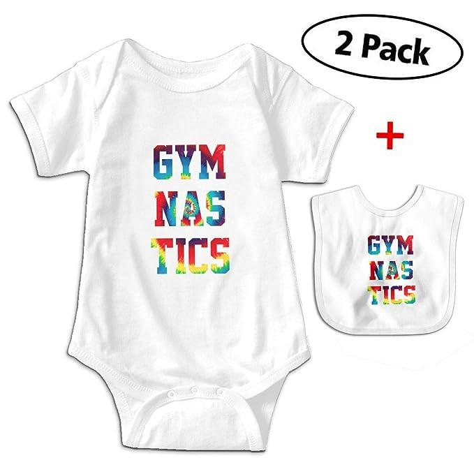 990a09189512 Amazon.com  Tie Dye Gymnastics Newborn Baby Funny Cotton Bodysuits ...